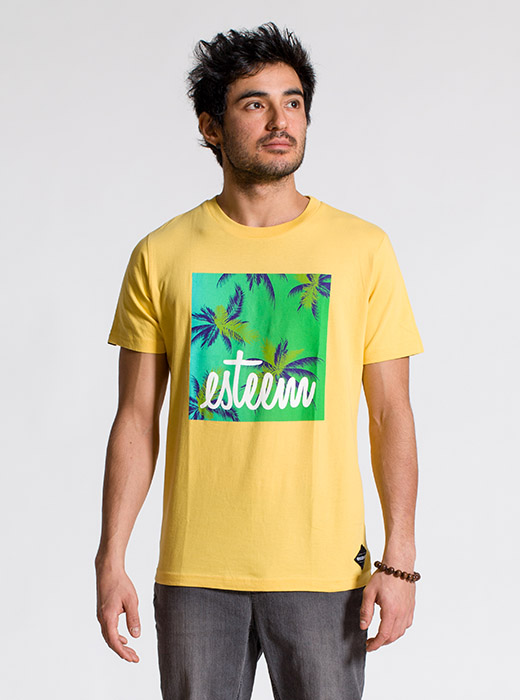 esteem BEACH T-shirt gelb Print