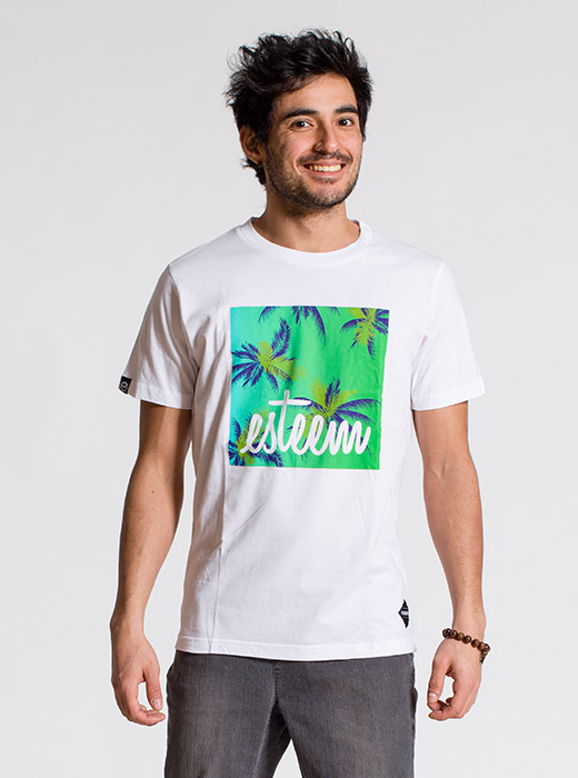 esteem BEACH T-shirt weiss Print