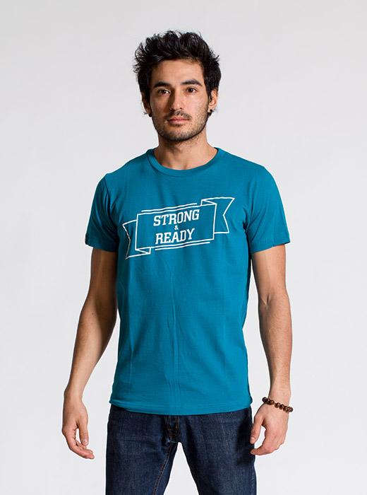esteem STRONG T-shirt petrol Print