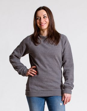esteem crewneck BASIC girls grau rot