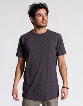esteem T-shirt BASIC LongCut dunkel grau