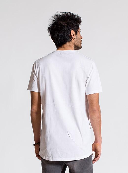 esteem Tshirt BASIC Longcut weiss pocket