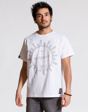 esteem CREST T-shirt weiss Print