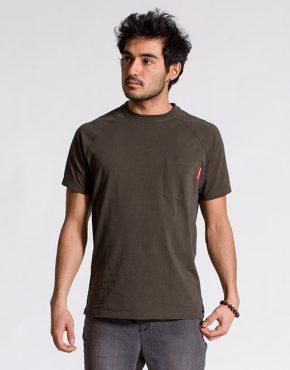 esteem RAGLAN LongCut T-shirt olive Pocket