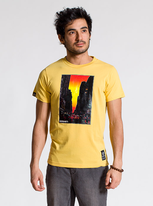 esteem SUNSET T-shirt gelb Print