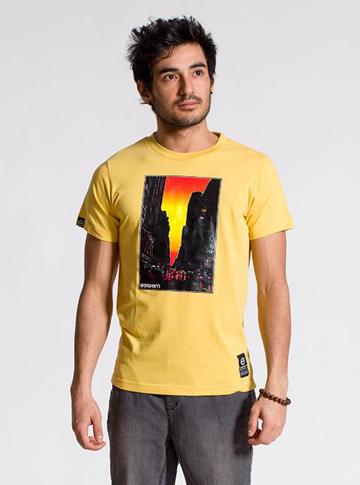 esteem SUNSET T-shirt gelb Print