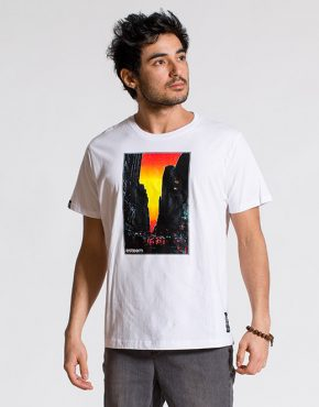 esteem SUNSET T-shirt weiss Print