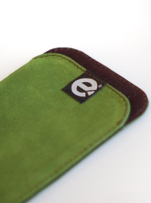 esteem Accesspoire Handtasche grün braun Leder