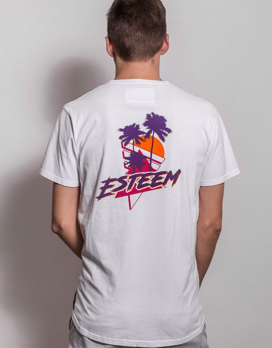 esteem RETRO PALM T-shirt back