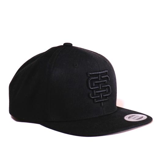 esteem snapback EST black schwarz 3D Stick
